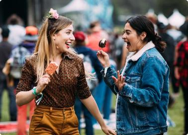 Fans enjoying music festival